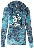 Yoga Clothing For You Ladies OM MANI Padme HUM V-Hoodie, 2XL Bahama Blue For Sale