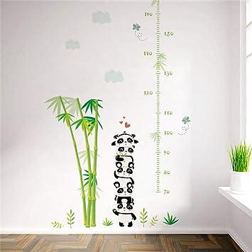 WHFDRHQT Sticker Mural Autocollant Animaux Bambou Panda Bambou Papillon  Hauteur Mesurer Tableau Stickers Muraux Pour Enfants