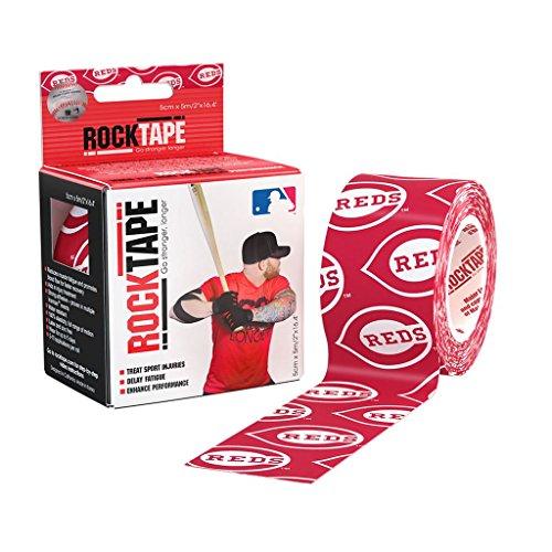 Rocktape Kinesiology MLB Cincinnati Reds Uncut Roll Tape for Athletes, 2