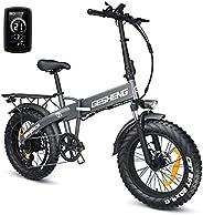 LANDXIKI Electric Bike for Adults 750W Q5 Ebike Bicycle 20 x 4.0'' Fat Tire Folding Electric Bike 48V