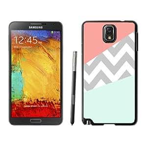Galaxy Protectire case,Mobile accessories,Case Coral Mint Grey Chevron Samsung Galaxy Note 3 case black cover