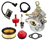 HIFROM 640349 640052 640054 Carburetor Kit With Ignition Coil Air Fuel Filter for Tecumseh 8HP 9HP 10HP HMSK80 HMSK90 LH318SA LH358SA