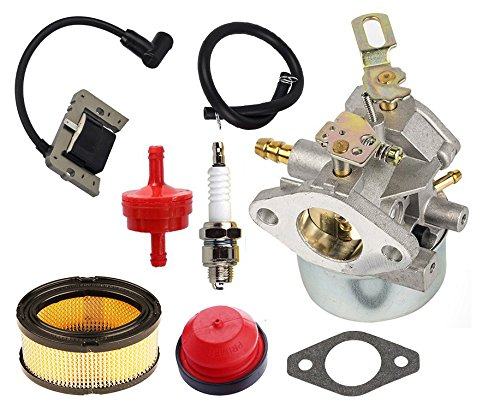 HIFROM 640349 640052 640054 Carburetor Kit With Ignition Coil Air Fuel Filter for Tecumseh 8HP 9HP 10HP HMSK80 HMSK90 LH318SA LH358SA by HIFROM