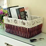 storage basket/ rattan storage box/Desktop snack debris basket in the kitchen-A 27x17cm(11x7inch)