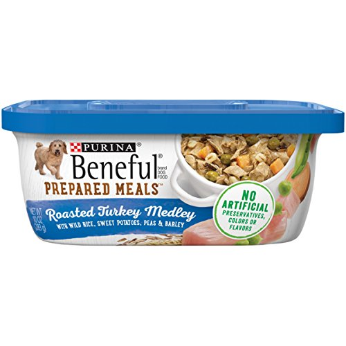 Purina Beneful Gravy Wet Dog Food; Prepared Meals Roasted Turkey Medley - (8) 10 oz. Tubs