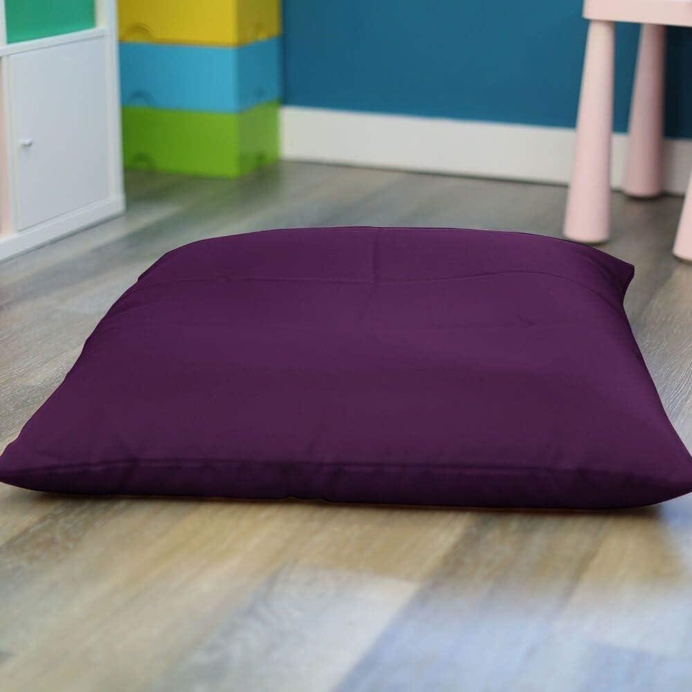 Trend Square Floor Cushion Beanbag (Baby Pink) Purple