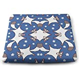 NiYoung Home Office School Dormitory Car Comfort Seat Cushion, for Sciatica Tailbone Back Pain Relief Memory Foam Pillow Pad, Ideal Gift for Men Women, Sweet Sugar Glider with Flowers
