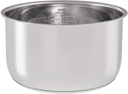 Amazon Com Stainless Steel Inner Pot Replacement Insert Liner Accessory Compatible With Ninja Foodi 6 5 Quart By Sicheer Kitchen Dining