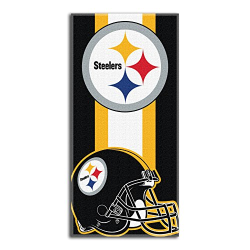 The Northwest Company NFL Pittsburgh Steelers Zone Read Beach Towel, Black, 30'' x 60''