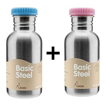 Laken Basic Steel - Stainless Steel Kids Water Bottle