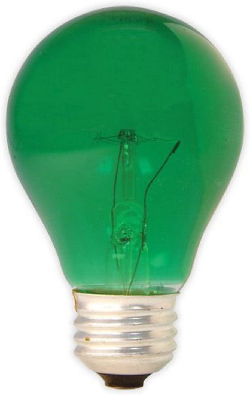 GE 49725-6 25-Watt A19 Party Light, Green, 6-Pack