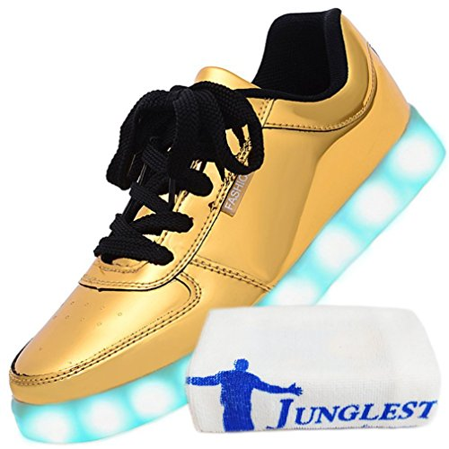 JUNGLEST Women Charging golden small Shoes LED USB towel Present Odema UWxEqnIpp