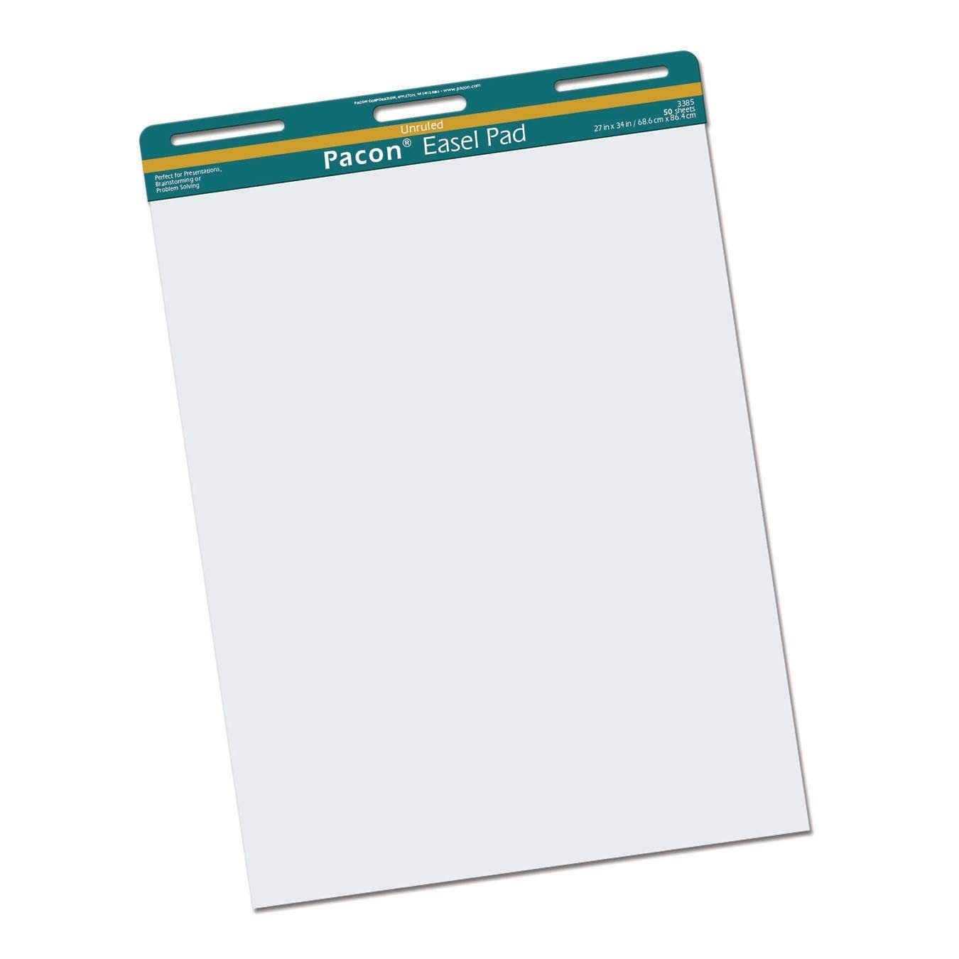 Pacon Easel Pad, Perforated, Unruled, 27x34'', 50 Sheets, White (PAC3385) by PACON
