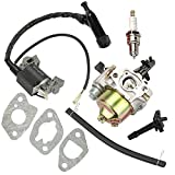 Buckbock Carburetor Carb with Ignition Coil for Harbor Freight Predator 212cc R210 6.5HP 7HP OHV Horizontal Engine 68121 69727 69730 Go Kart HONA GX160 5.5 HP GX200 6.5 HP Engine