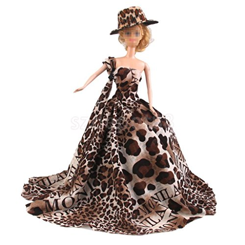 Handmade Leopard Dress Wedding Party Gown Clothes Outfits by uptogethertek