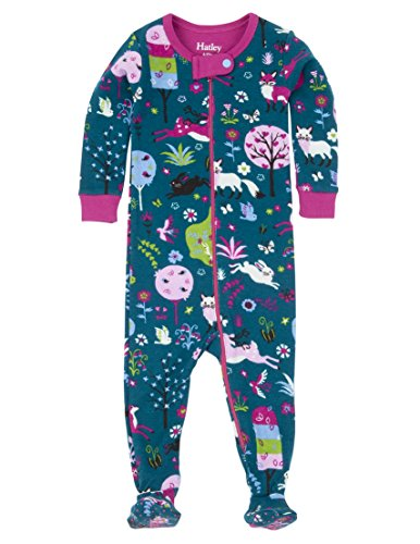 Hatley Girls' Footed Coverall, Mystical Fall Forest, 6-12 by Hatley
