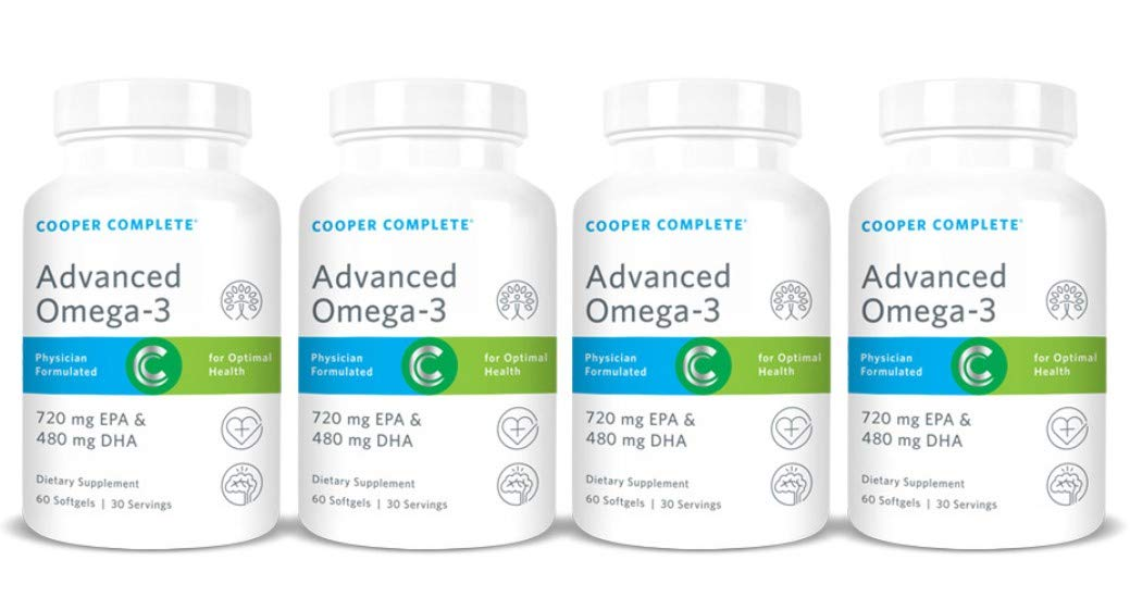 Cooper Complete - Advanced Omega 3 - Fish Oil Supplement, Concentrated EPA + DHA Omega-3 Fatty Acids 1400 mg - 120 Day Supply