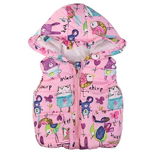 Gyratedream Kids Gilet Meisjes Mouwloos Hooded Bovenkleding Body Warmer Jassen Winter Cartoon Gedrukt Vest Jas Leeftijd…