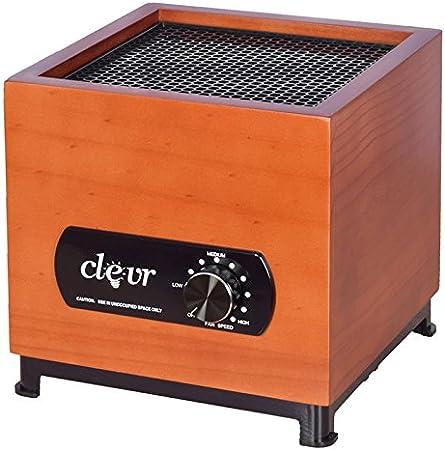 Clevr 8 generador de Pasos de ozono purificador de Aire, diseño de Carcasa de bambú, 1000 Cuadrado Cobertura de los pies, Las alergias alérgeno Reductor: Amazon.es: Hogar