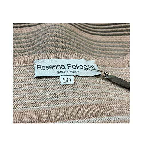 Made Rosanna Donna Pellegrini Maglia In Cipria Italy Mod 100 tortora Lana 48312 qqZz6f