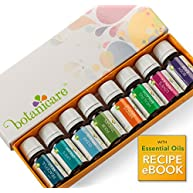 Top Essential Oil Blends Aromatherapy Kit - 8 10ml bottles. Great for DIY projects like Lotion, Soap, Bath Bombs, or Bath Salts. Also for an Aromatherapy Diffuser. Perfect Gift Set