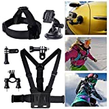 XCSOURCE® Set Kit 8 in1 Handlebar Mount + Suction Cup + Chest Strap+ Head Strap + 2 x Joint + 2 x Screws For Gopro Hero 1 2 3 OS57