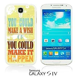 OnlineBestDigital - Typography Pattern Hard Back Case for Samsung Galaxy S4 IV I9500 / I9505 - Make It Happen