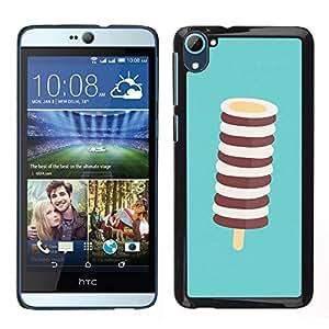 MOBMART Carcasa Funda Case Cover Armor Shell PARA HTC Desire D826 - White And Brown Lollipop