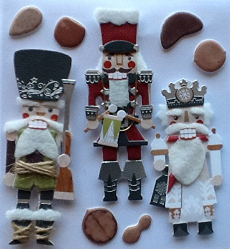 Ek Jolees Boutique Felt - Jolees Boutique Dimensional Holiday Stickers ~ Nutcrackers 9 Piece