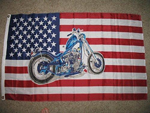 (Usa Harley Davidson Bike Motorcycle Chopper Superpoly 3X5 Flag Banner, Model: , Sport & Outdoor)