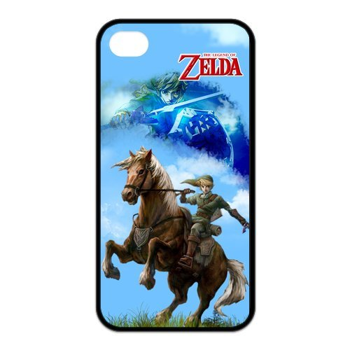Fayruz- The Legend of Zelda Protective Hard TPU Rubber Cover Case for iPhone 4 / 4S Phone Cases A-i4K95