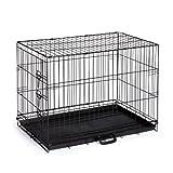 Home On-The-Go Single Door Dog Crate, Medium, Black