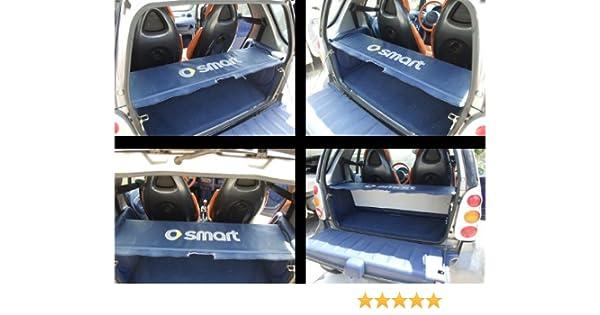Bandeja de cuero sintético para maletero y varillas de soporte de O (para Smart ForTwo), color azul