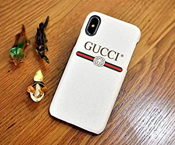 59c5b4569b Amazon.com: TSLME Designer Inspired G Style case Cover Wallet for Apple iPhone  X 10/iPhone Xs (IPX/XS-White): Beauty