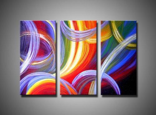 Abstract Rainbow Hues , Canvas Art, Oil Paintings, Wall Art