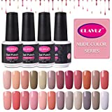 CLAVUZ 24pcs Gel Nail Polish Set Nude Color Collection Soak Off Gel Nail Lacquer Nail Art Manicure High-gloss 8ml New Starter Christmas Gift Kit