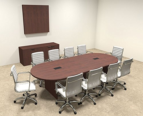 Modern Racetrack 10' Feet Conference Table, OF-CON-C2