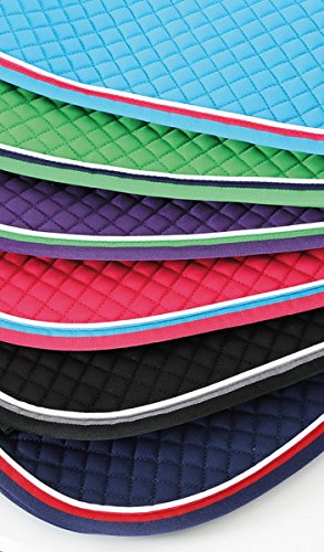 Deluxe Dressage Saddle Pad, Lime/Navy - Cob/Full Size