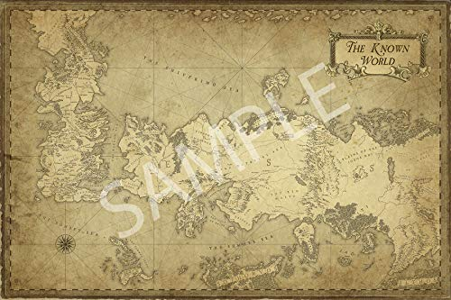 Best Print Store - G-O-T, Westeros and ESSOS, The Known World Map Poster (24x36 inches) (Map Essos)