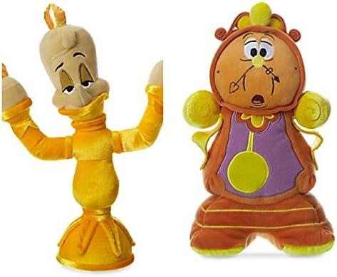 Disney Lumier y DIN-Don Peluche Pequeño Set 30cm de La Bella y la Bestia: Amazon.es: Juguetes y juegos