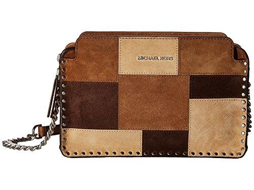 MICHAEL Michael Kors Women's Astor Lg Messenger Dark Caramel Crossbody Bag (Bag Kors Michael Warranty)