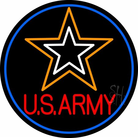 - The Sign Store N105-14032-outdoor US Army Outdoor Neon Sign44; 26 x 3.5 x 26 in.