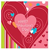 Valentine Happy Heart Swirl Lunch Napkins Party Accessory