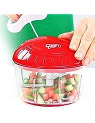 Crank Chop Food Chopper by BulbHead, Mini Manual Food Chopper to Chop, Prep, & Dice Food