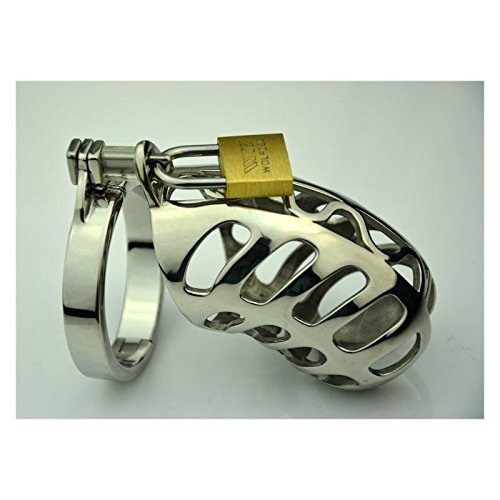 FANGMING Male electric chastity device, Corona beer cock cage, chastity lock, 3 size penis ring, adult game, penis ring, chastity belt, a178-p by FANGMING