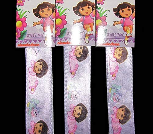 9 Yds Dora The Explorer Bedtime Satin Ribbon 1