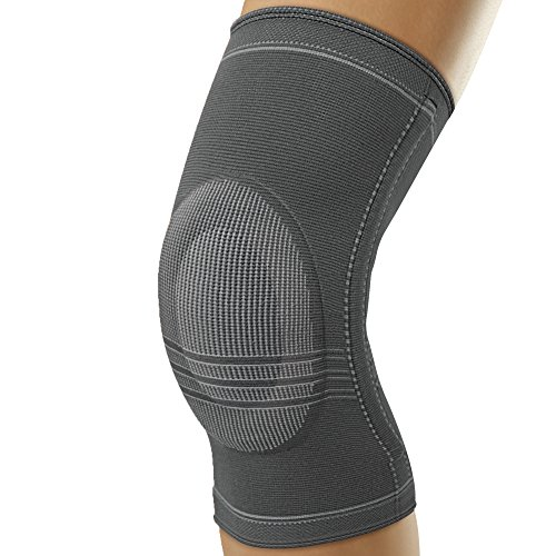 Sport Futuro Knee Support - Futuro Active Knit Knee Stabilizer, Moderate Stabilizing Support, Medium, Gray