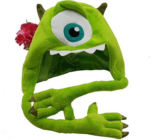 Disney Monsters University Mike Wazowski Plush Hat With Arms Adult Youth