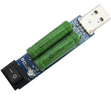 Yeeco USB Carga Ensayador Descarga Tablero Corriente Supervisión Detección con Envejecimiento Resistor 1A / 3A Cambiar Azul: Amazon.es: Bricolaje y ...