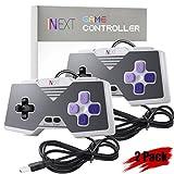 [Newest Version] iNNEXT SNES Retro USB Super Nintendo Controller Gamepad Joystick, USB PC Controller Joypad Gamestick, Raspberry Pi Controller for Windows PC / MAC / Raspberry Pi (Pack of 2)